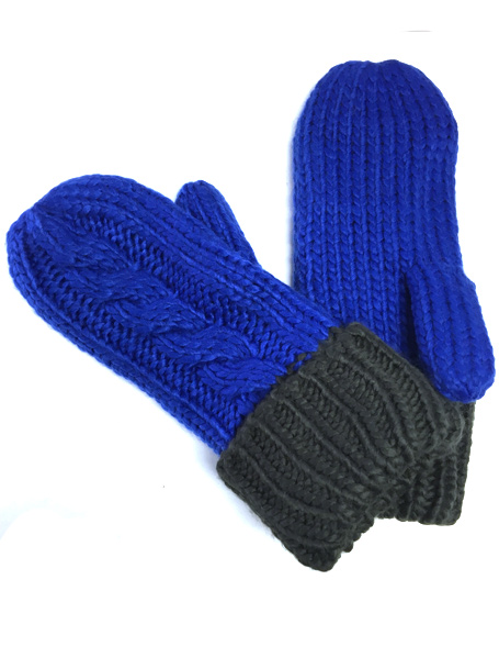 MITAINE TRICOT POLAR 2 TONS ROYAL