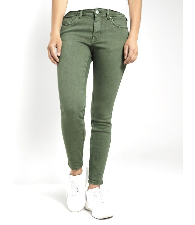 JEANS COULEUR PUSH UP UNI VERT