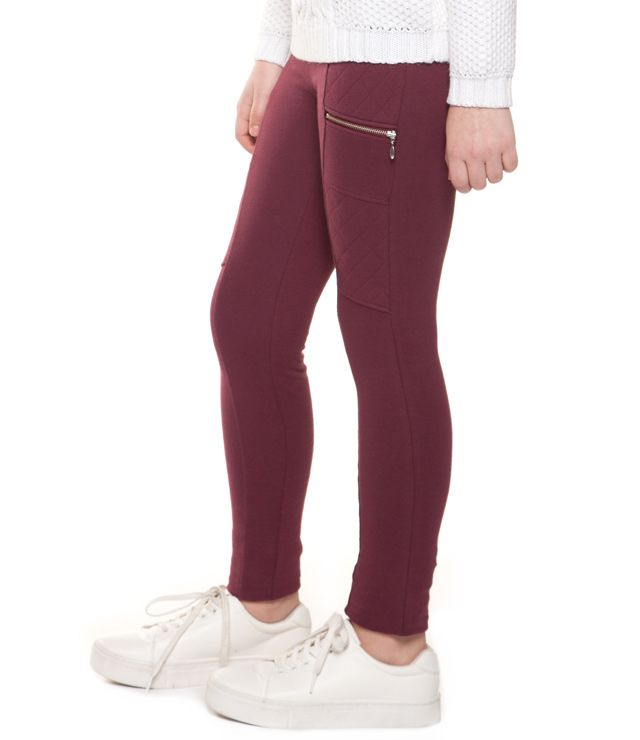PANTALON JOGGING ZIP & SURPIQURE bourgogne