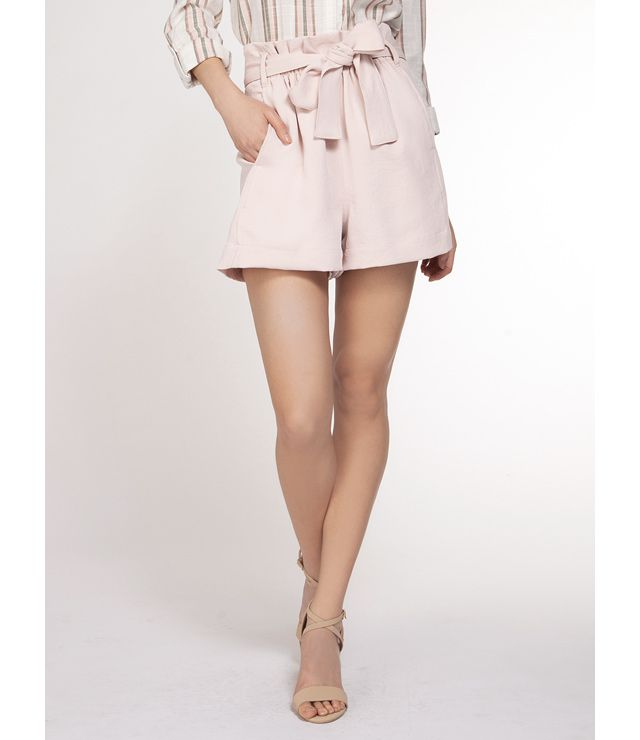 SHORTS CHIC PAPER BAG UNI BLUSH