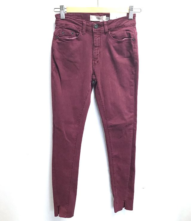 JEANS COULEUR TAILLE MOYENNE SKINNY framboise