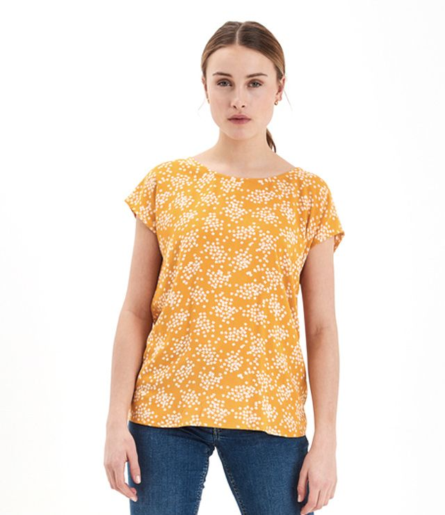 T-SHIRT LOOK BLOUSE LÉGER VISCOSE jaune