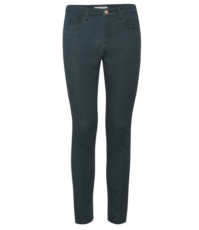 JEANS COULEUR SKINNY TAILLE HAUTE VERT