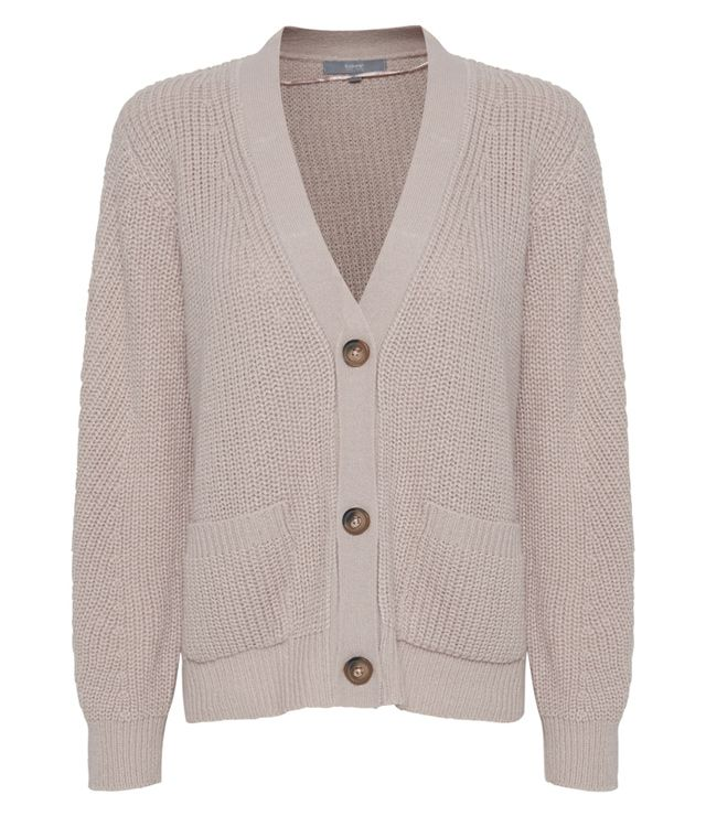 CARDIGAN TRICOT 3 BOUTONS POCHES DEVANT rose