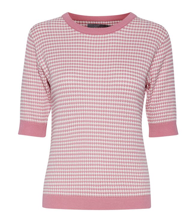 CHANDAIL MANCHE 3/4 TRICOT ROSE SORBET