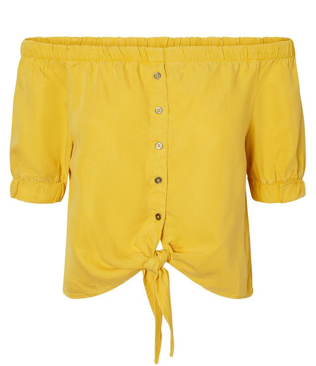 BLOUSE M.C. UNIE SPORT TENCEL OFF SHOULD jaune