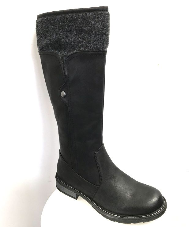 BOTTE LONGUE IMPERMEABLE LAINAGE SNAP noir