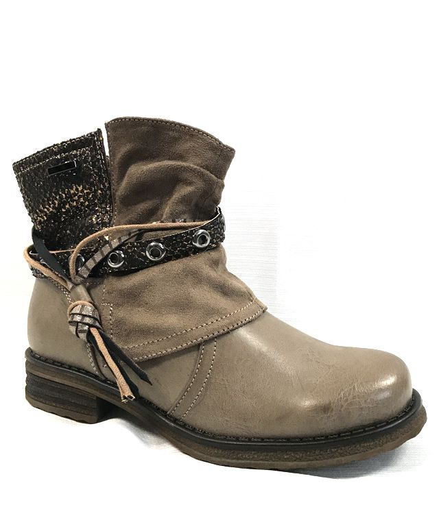 BOTTE COURTE LOOK COWBOY PETIT TALON TAN