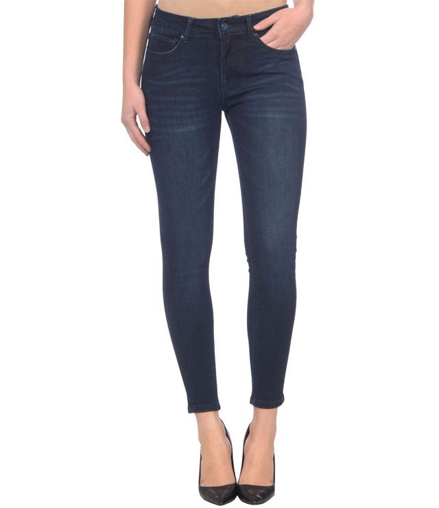 JEANS ANKLE TAILLE MOYENNE EXTENSIBLE denin