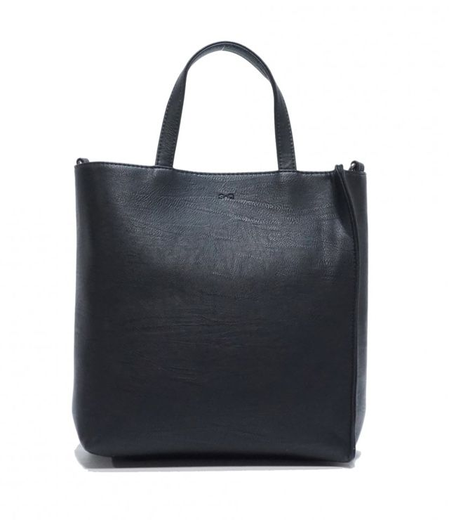 SAC A MAIN 2 DANS 1 FORMAT RECTANGLE noir