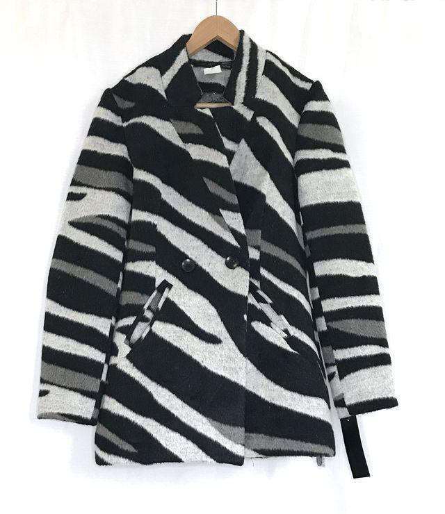 MANTEAU SPORT/CHIC TRANSITION ANIMAL ZEBRE