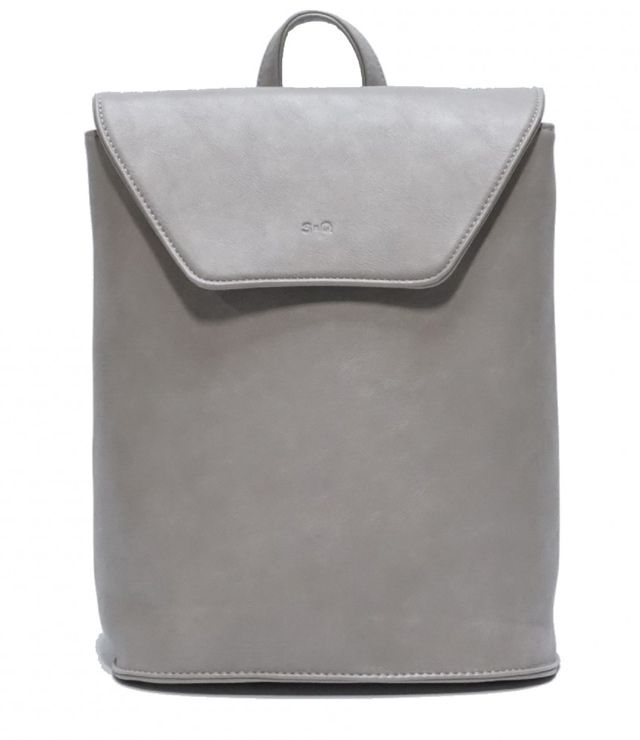 SAC A DOS RECTANGLE FINI MAT CONVERTIBLE gris