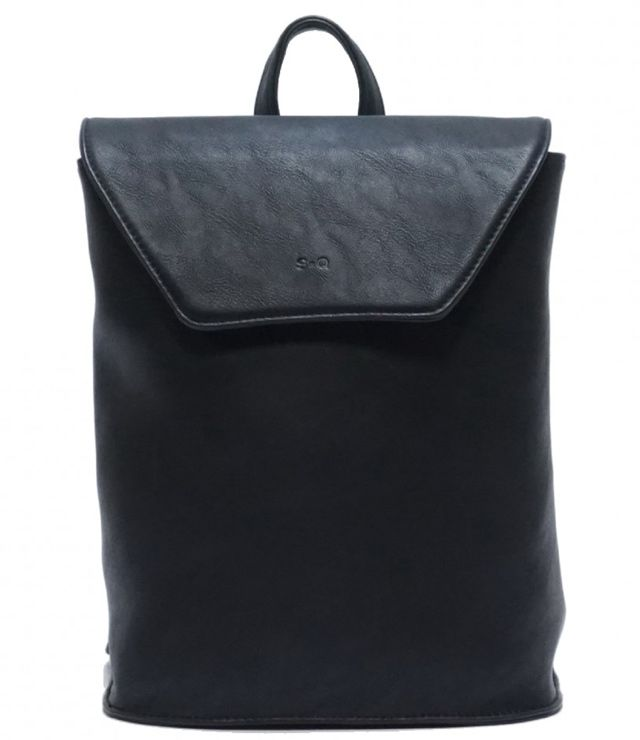 SAC A DOS RECTANGLE FINI MAT CONVERTIBLE noir