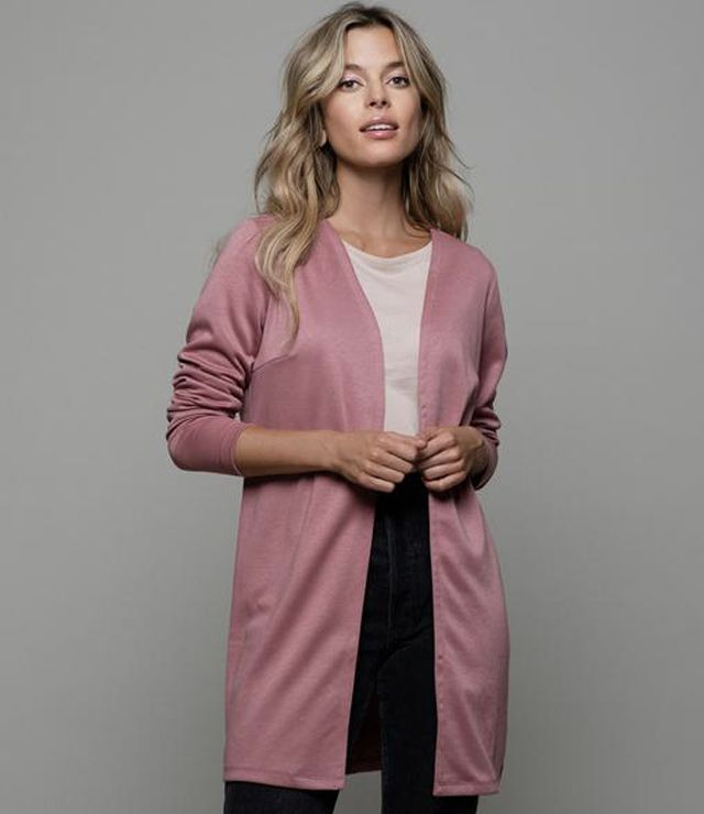 VESTON SPORT/CHIC LONG OUVERT rose
