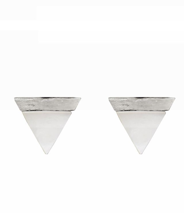 BOUCLE D'OREILLE TRIANGLE 2 TONS